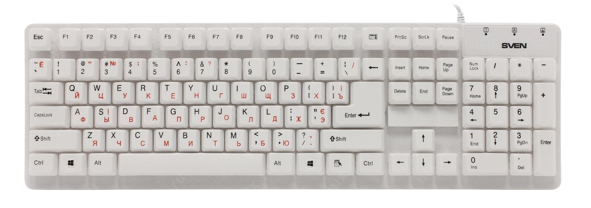 Большое фото клавиатура sven 301