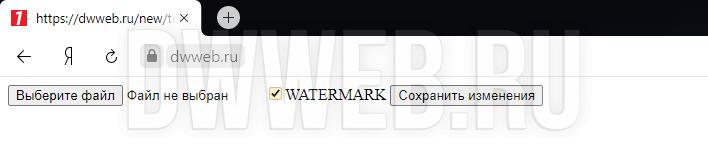 Скрипт водяного знака