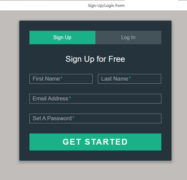 Шаблон  формы регистрации с авторизацией html(черно-зеленый)